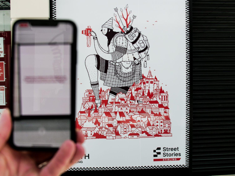 David Galletly's Street Stories Stirling illustration